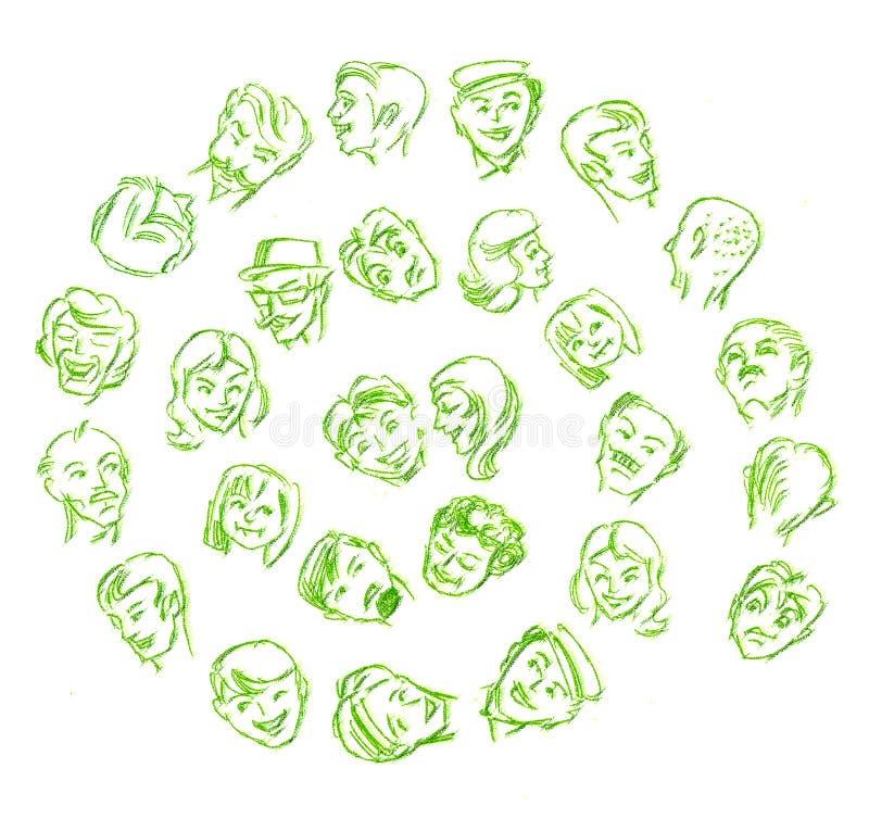 twarze royalty ilustracja