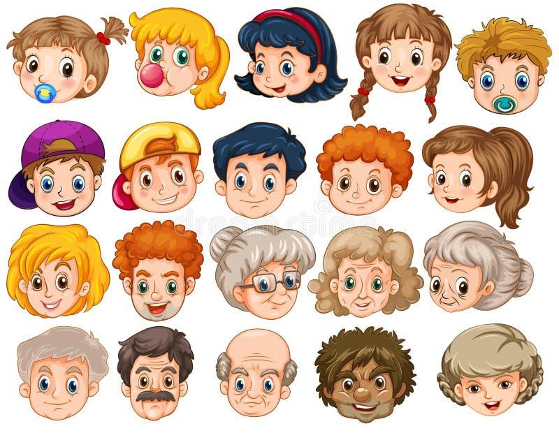 twarze ilustracji