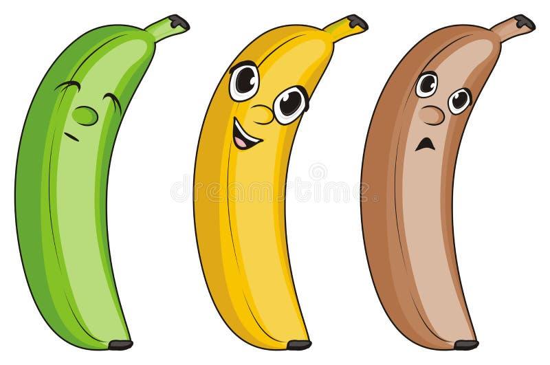 Twarze banany ilustracja wektor