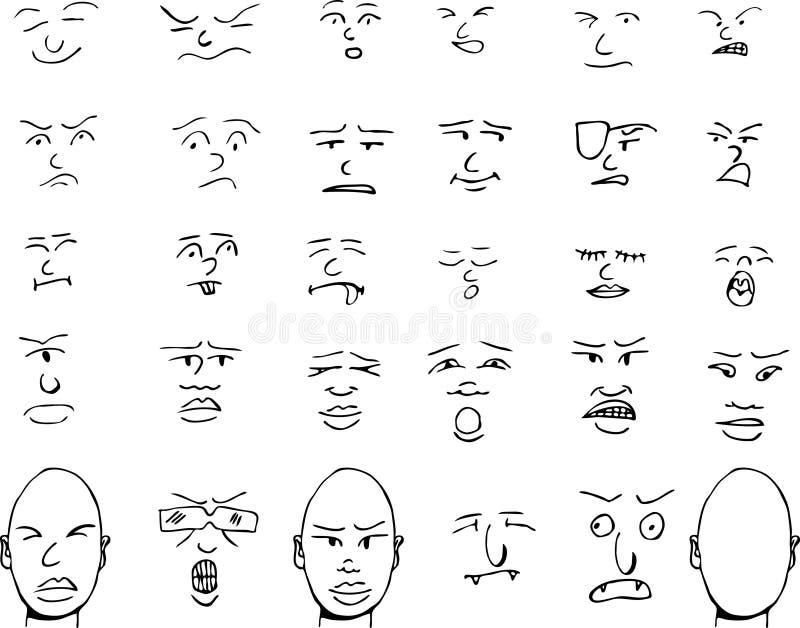 twarze ja royalty ilustracja