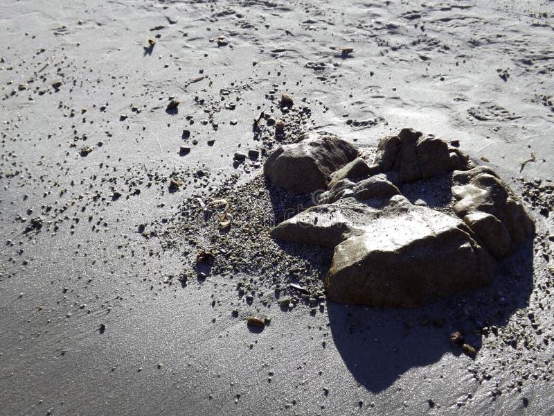 Twarze w piasku zdjęcia stock