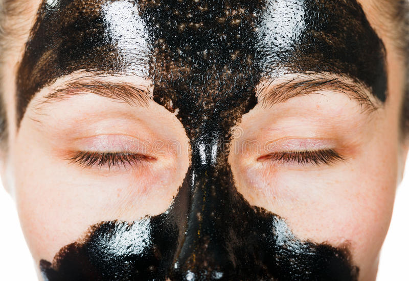 Twarzowa czerni maska obrazy royalty free