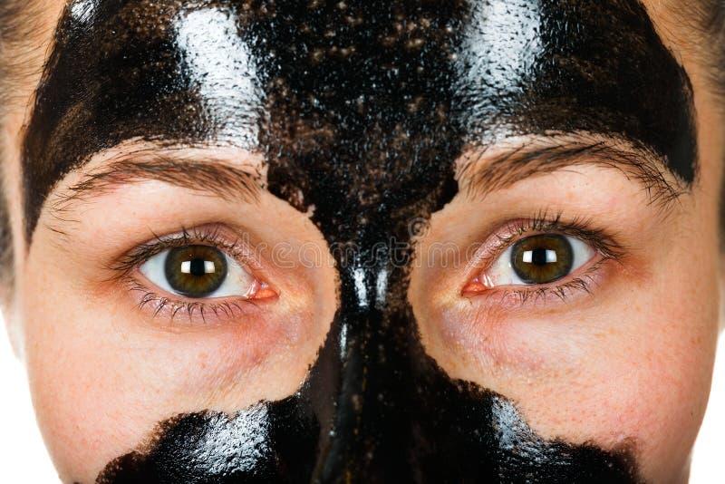 Twarzowa czerni maska zdjęcia stock