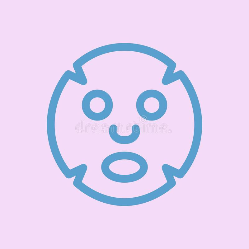 Twarzowa maskowa p?aska ikona Medycyna, kosmetologia i opieka zdrowotna, ilustracji
