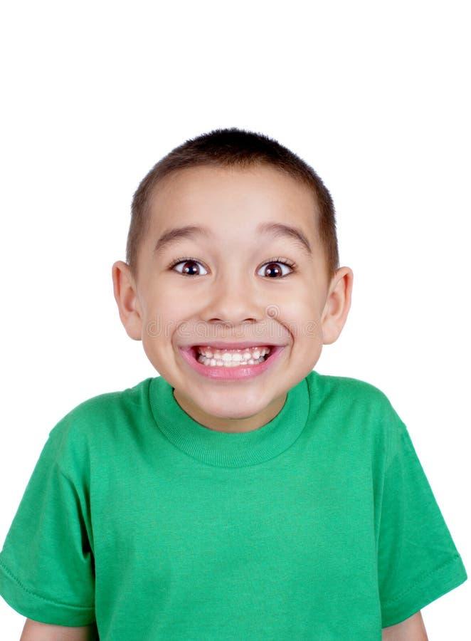 twarzy śmieszny dzieciaka robienie fotografia royalty free