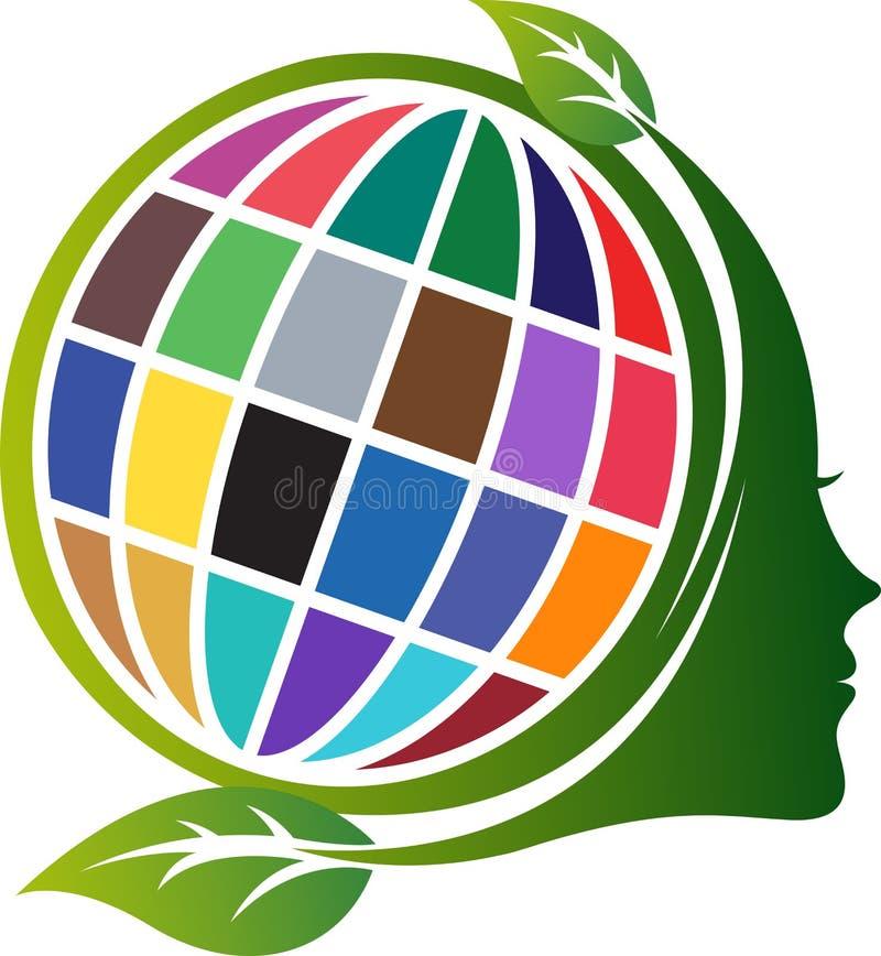 Twarzy środowiska logo ilustracja wektor