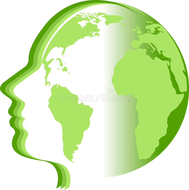 Twarzy światu logo ilustracja wektor