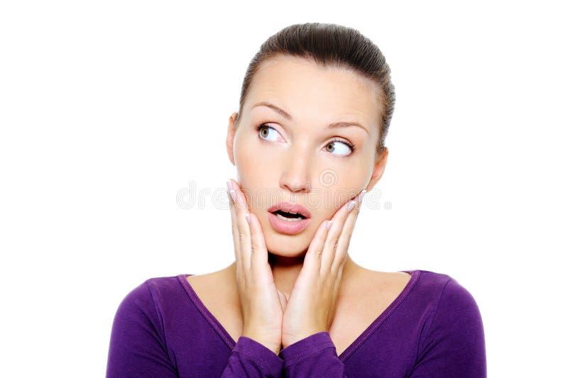twarzy żeńskiego portreta ładny target1083_0_ zdjęcia royalty free