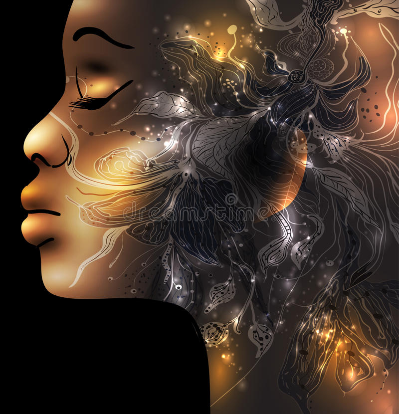 twarzy abstrakcjonistyczna kobieta ilustracja wektor