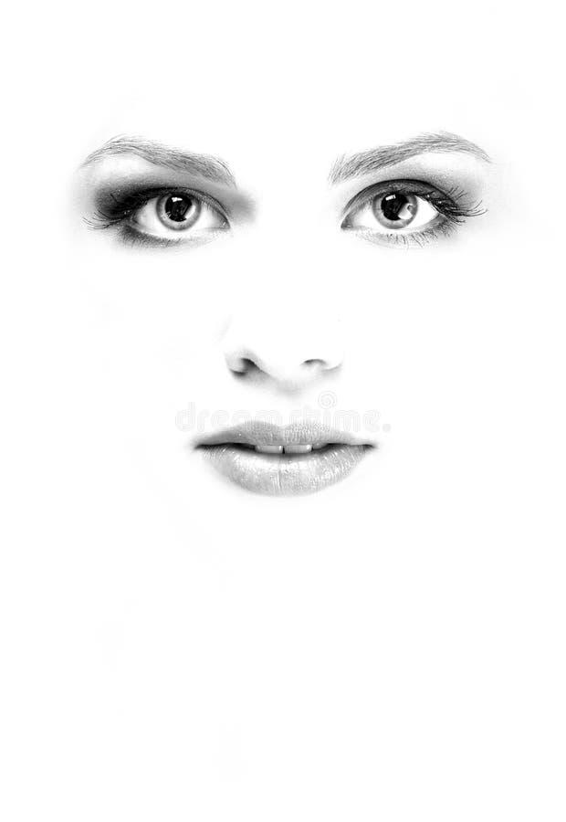 twarzy biała kobieta obraz stock