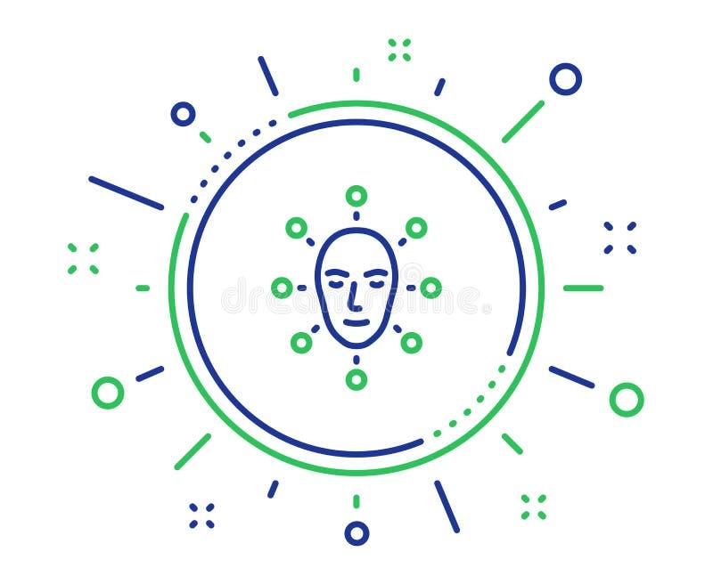 Twarzy biometrics linii ikona Twarzowy rozpoznanie znak wektor ilustracja wektor