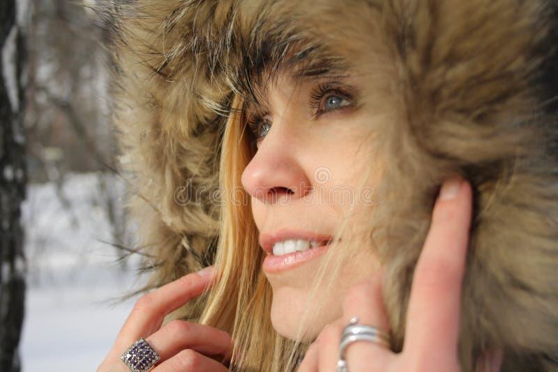 Download Twarzy Dziewczyny Kapiszon S Obraz Stock - Obraz złożonej z femaleness, śnieg: 13339227