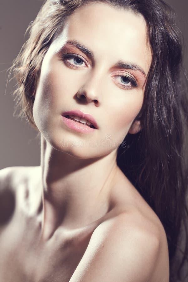 twarzy dziewczyny makeup naturalny seksowny zdjęcie royalty free