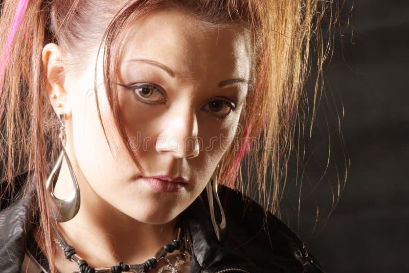 twarzy dziewczyny ruch punków obraz royalty free