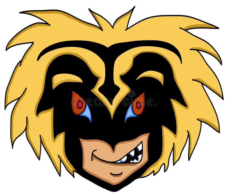 twarzy gniewna maska ilustracji