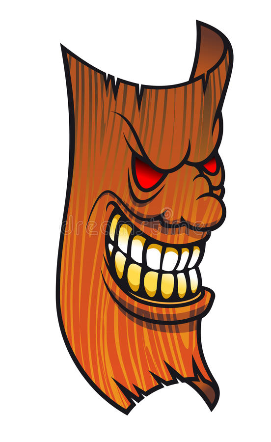 twarzy gniewna maska ilustracja wektor