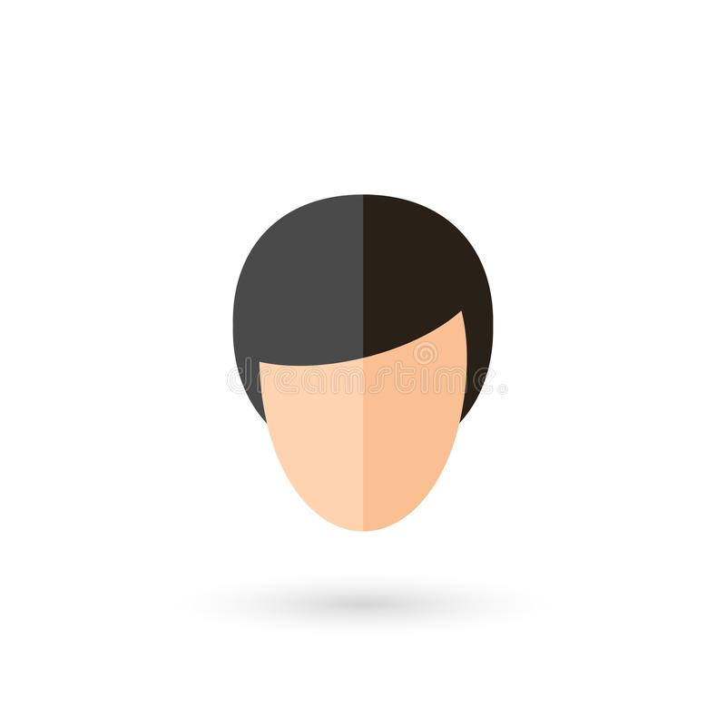 Twarzy ikona ilustracja wektor