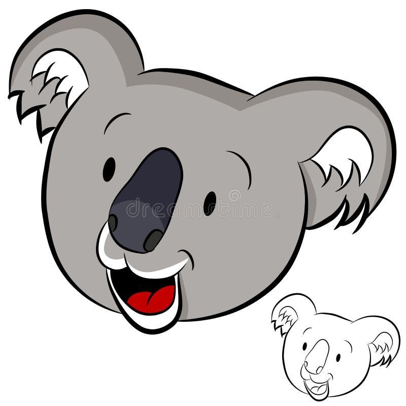 twarzy koala royalty ilustracja
