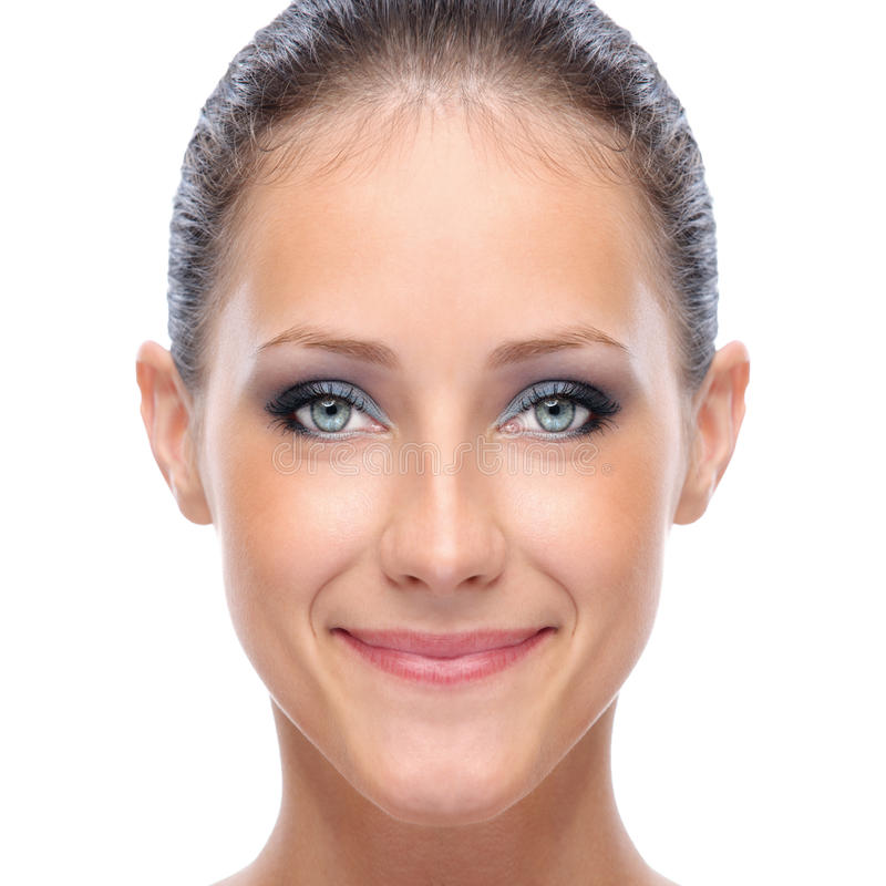 twarzy kobiety potomstwa zdjęcie stock