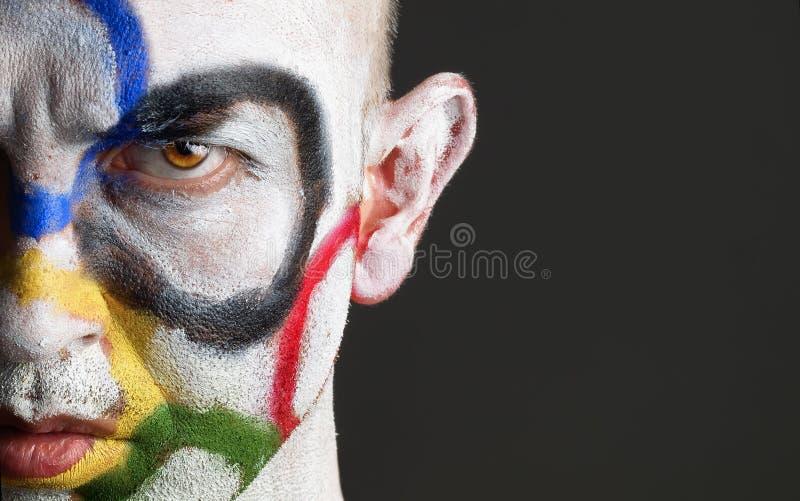 twarzy mężczyzna olimpijscy malujący pierścionki fotografia royalty free