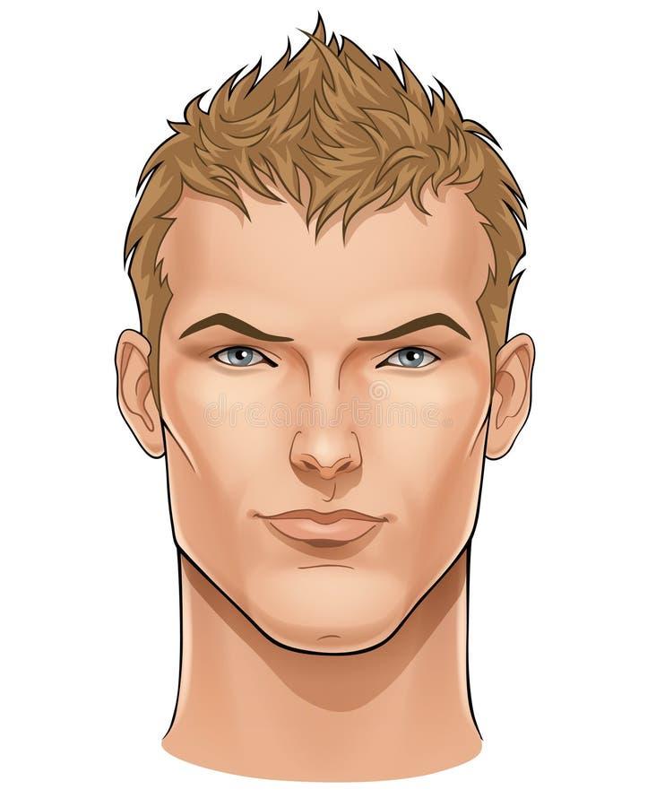 twarzy mężczyzna potomstwa ilustracja wektor