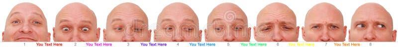 twarzy mężczyzna wielokrotność obrazy stock