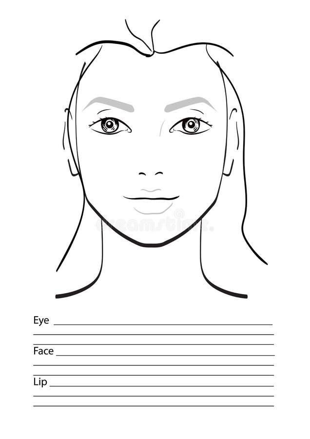 Twarzy mapy Makeup artysty puste miejsce royalty ilustracja