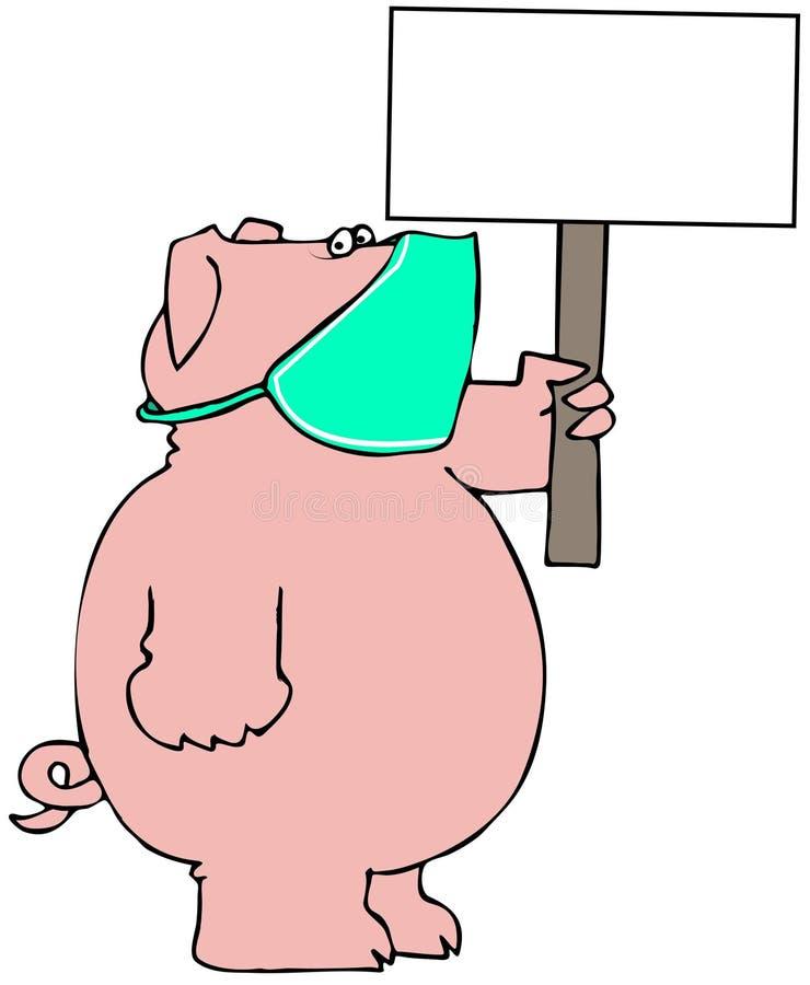 twarzy maski świniowaty target298_0_ royalty ilustracja