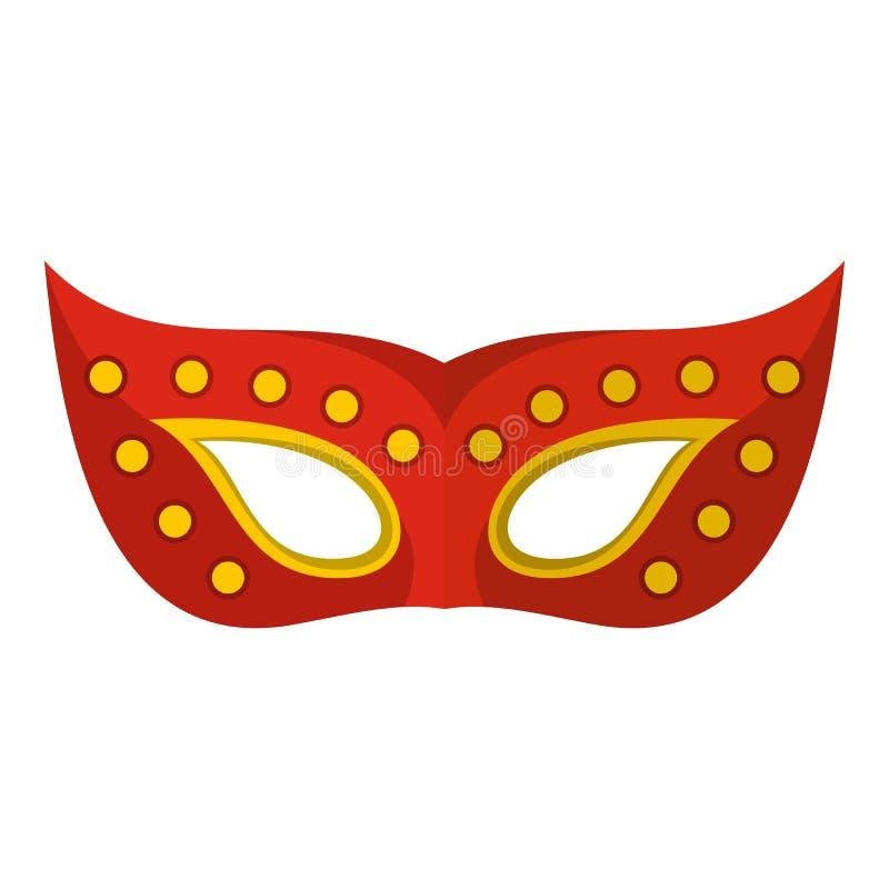 Twarzy maski ikona, mieszkanie styl ilustracji