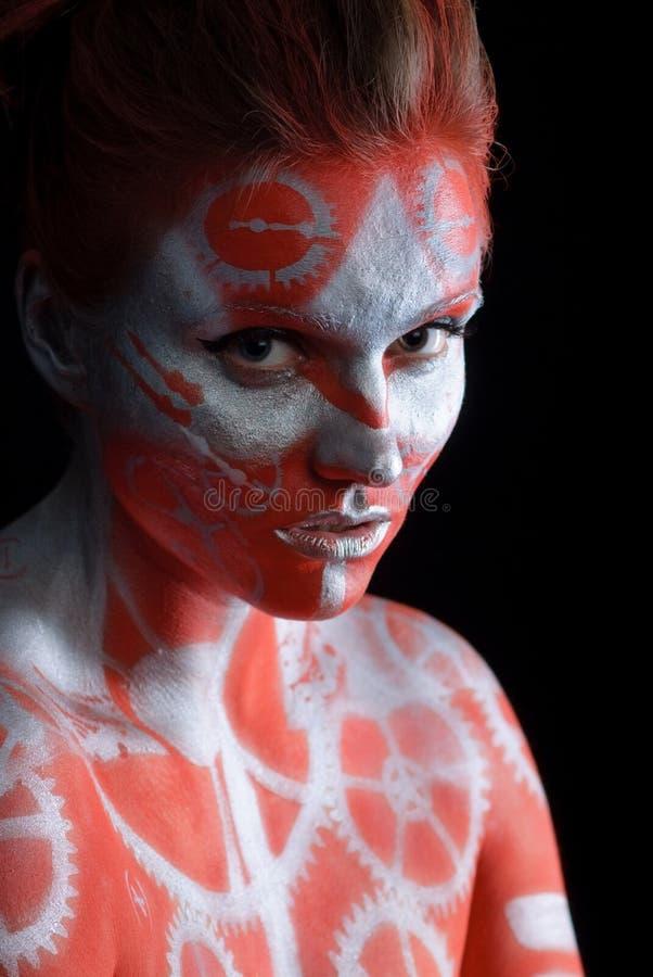 twarzy mistyczka malujący kobiety potomstwa zdjęcie royalty free