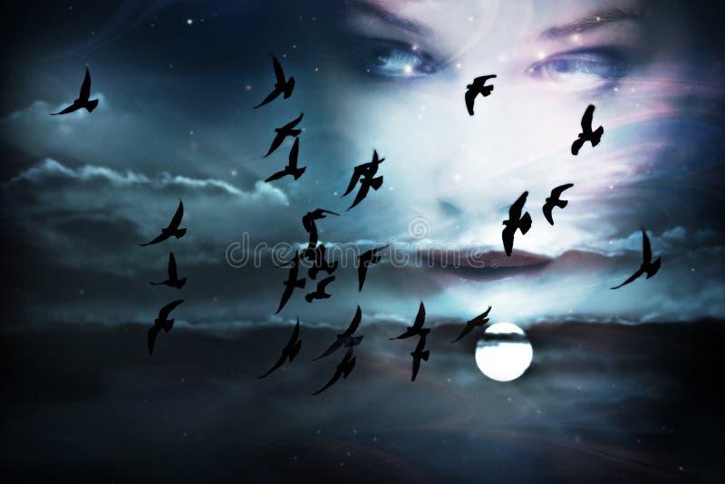 twarzy niebo obrazy royalty free