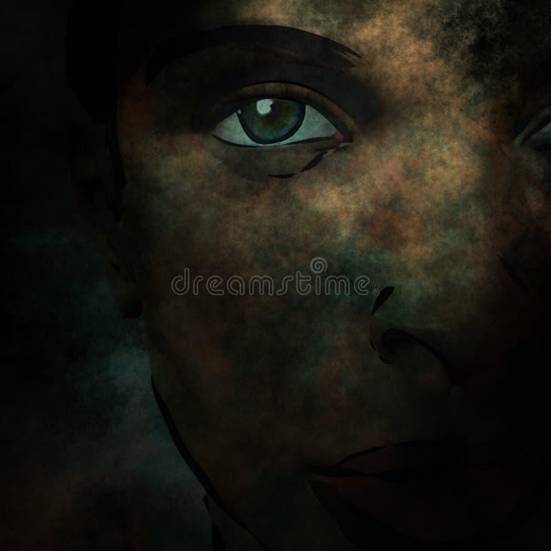 twarzy noir royalty ilustracja
