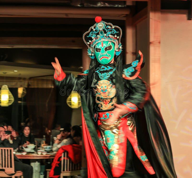 Twarzy odmieniania występ w Chengdu, porcelana obraz stock