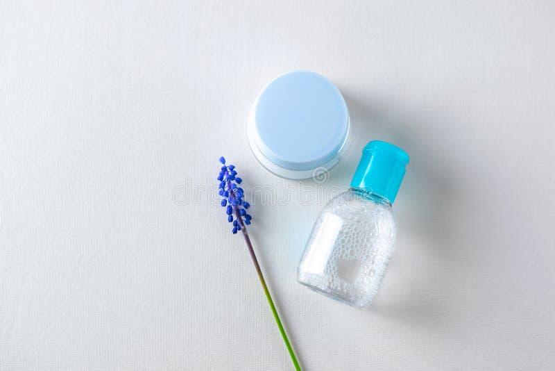Twarzy opieki traktowania kosmetyków zasięrzutny mieszkanie nieatutowy zdjęcie royalty free