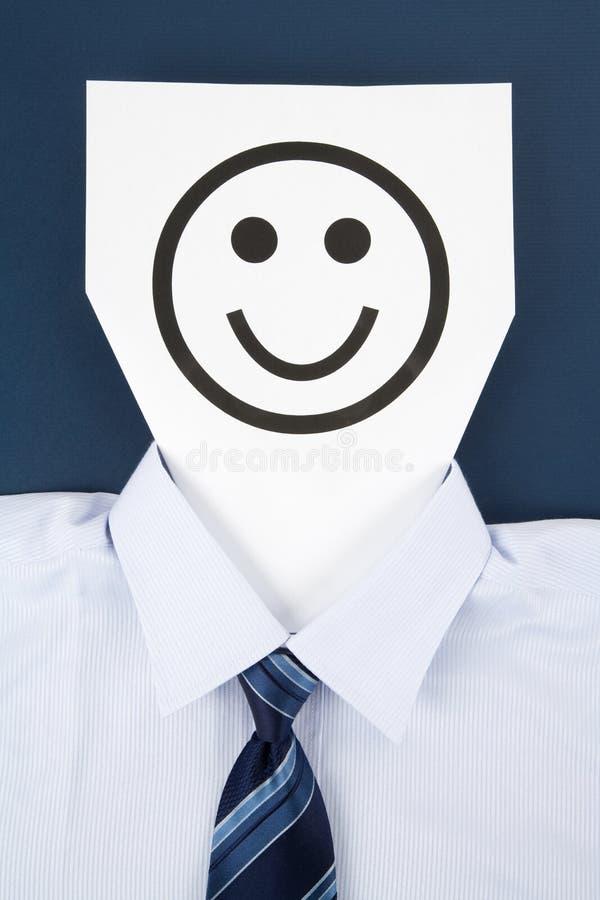 twarzy papieru uśmiech zdjęcie stock