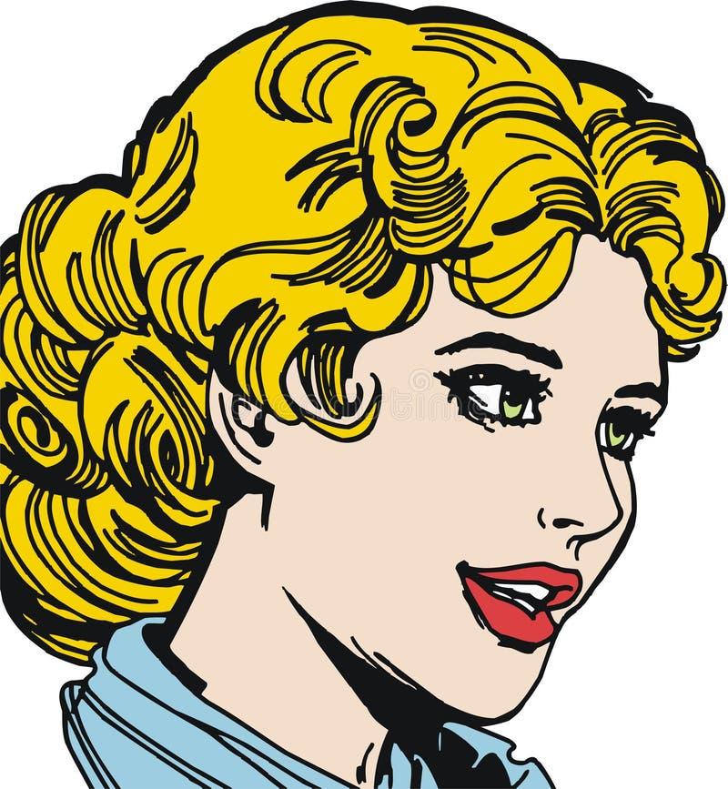 twarzy piękna kobieta ilustracji