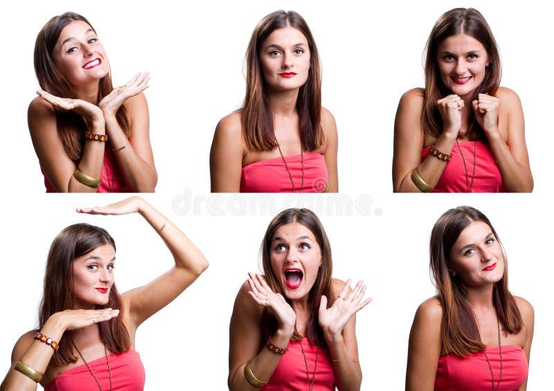 twarzy piękna kobieta sześć zdjęcie royalty free