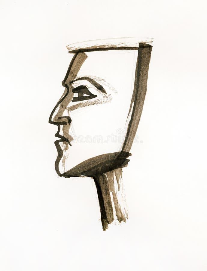 twarzy połówka zdjęcia stock