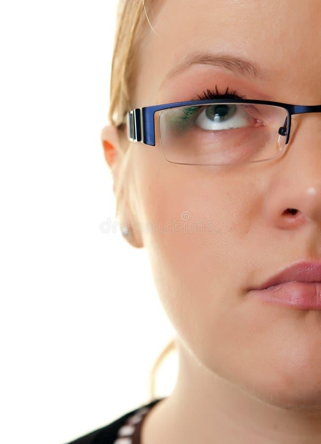 twarzy połówki kobieta fotografia stock