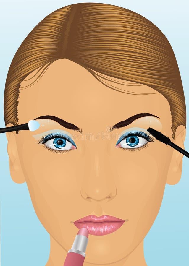 twarzy womans ilustracja wektor