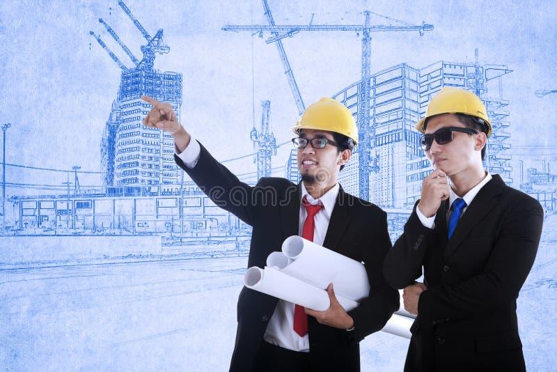 Twee architecten stock afbeelding