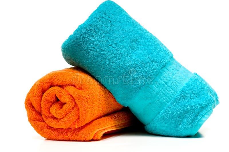 Twee badhanddoeken stock fotografie