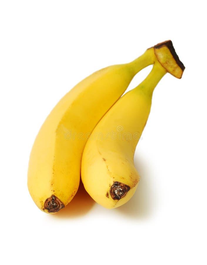 Twee bananen stock foto
