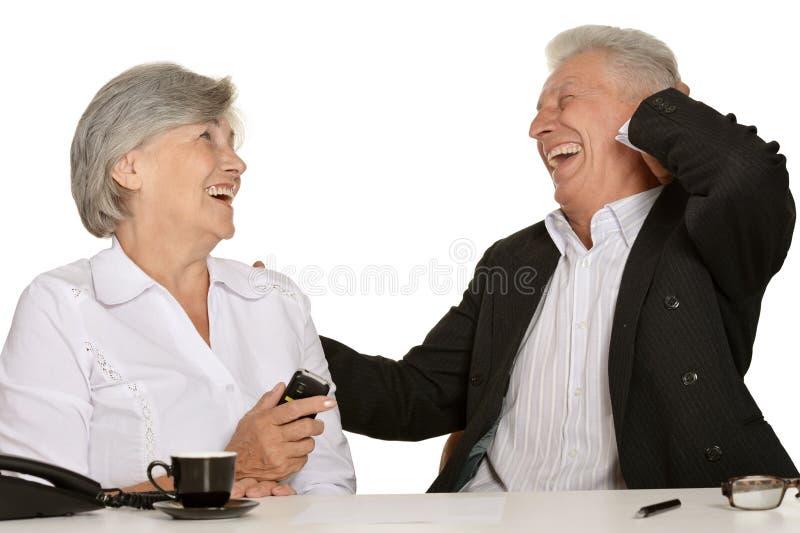 Twee bejaarde mensen royalty-vrije stock afbeelding