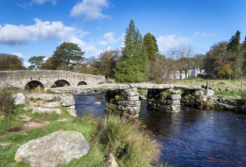 Twee Biridges in Postbridge op Dartmoor royalty-vrije stock foto's