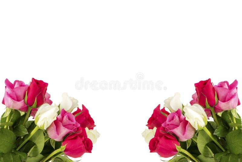 Twee boeketten met rozen stock foto's