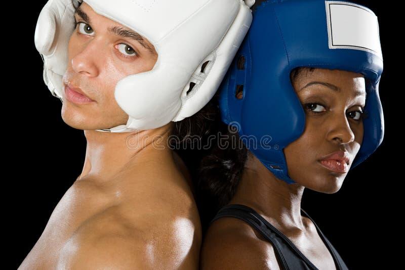 Twee boksers royalty-vrije stock afbeelding