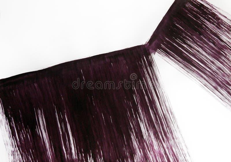 Twee brede die strepen, met een borstel, schuin aan elkaar worden geschilderd stock afbeeldingen