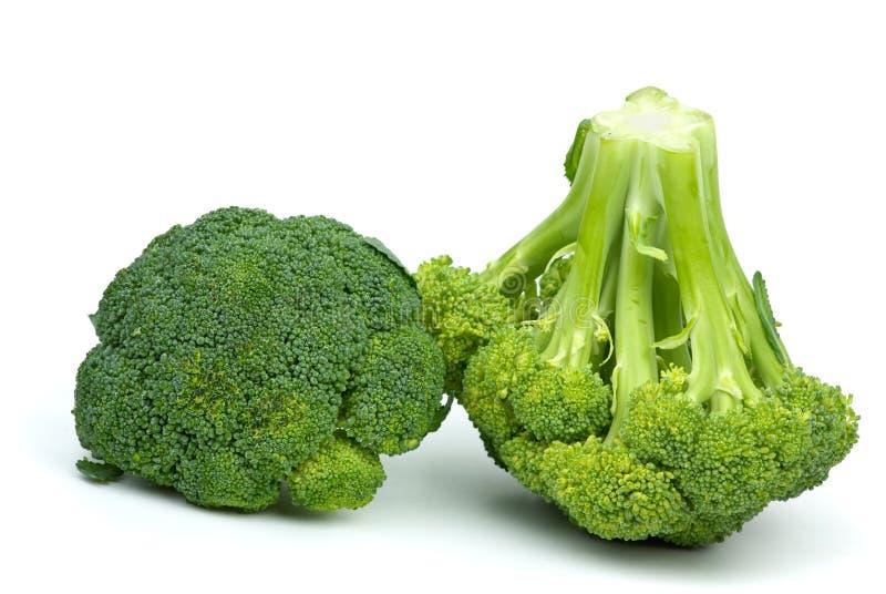 Twee broccolistukken royalty-vrije stock fotografie