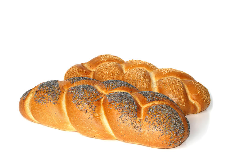 Twee broden van wit brood stock afbeeldingen